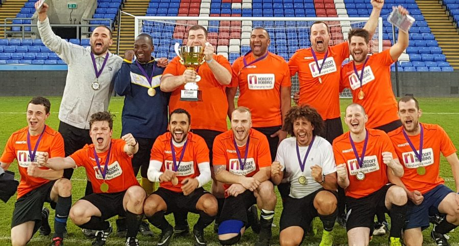 Nordoff Robbins Cup 2019 - Winning team celebrating