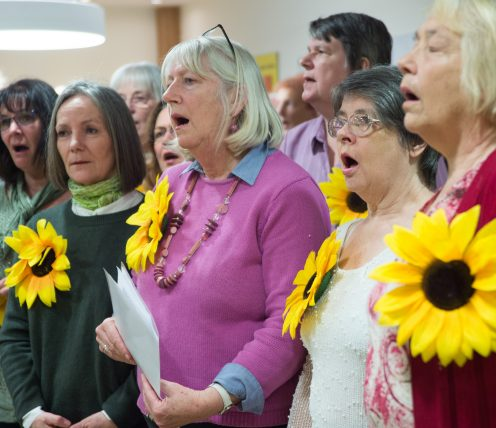 Earl Mountbatten Choir members singing