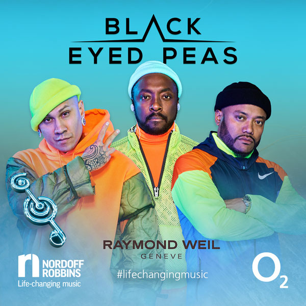 The Black Eyed Peas promotional shot for O2 Silver Clef Awards 2019