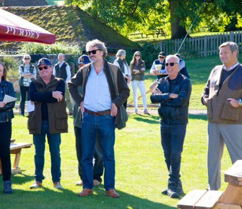 Guests chatting at Nordoff Robbins Clay Shoot