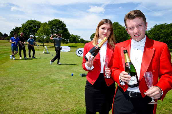 People playing golf at Nordoff Robbins Golf Day