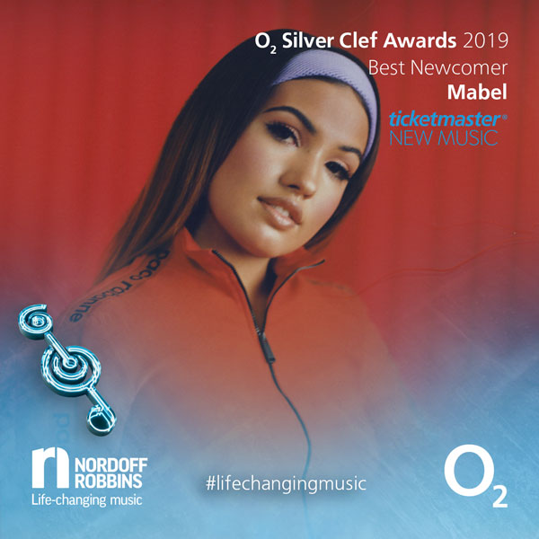 Mabel promotional shot for O2 Silver Clef Awards 2019
