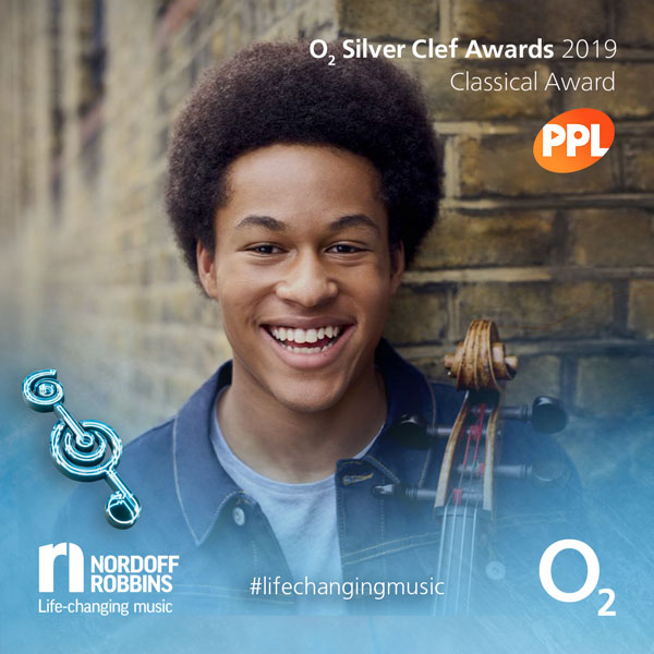 Sheku promotional shot for O2 Silver Clef Awards 2019