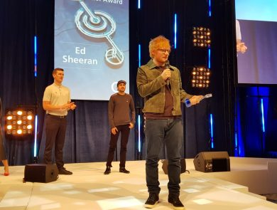Ed Sheeran collects O2 Silver Clef Award