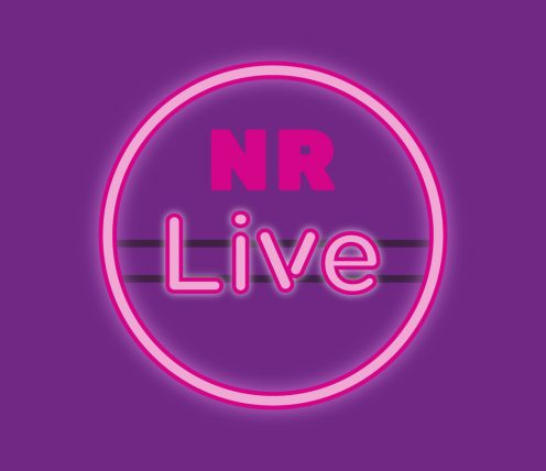 NR Live pink and purple logo